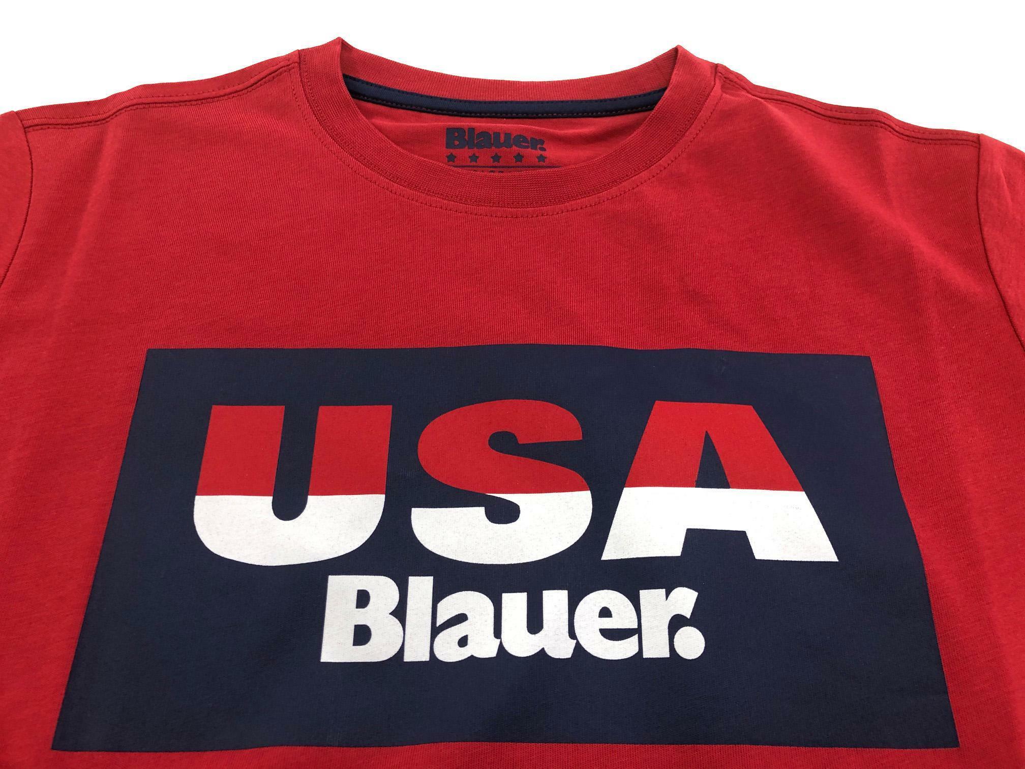 blauer t-shirt blauer junior rosso 20sblkh02193