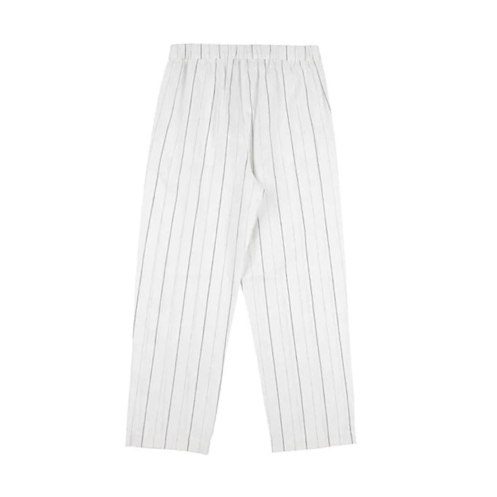 patrizia pepe patrizia pepe pantalone lino ragazza bianco pa1628010995