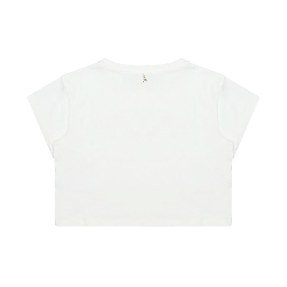 patrizia pepe patrizia pepe t-shirt ragazza panna te211221s1021