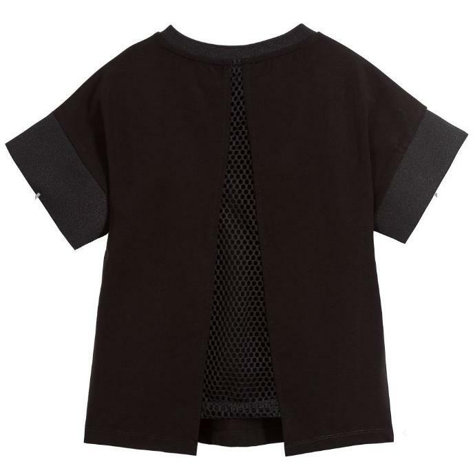 dkny dkny t-shirt ragazza nero d35q511