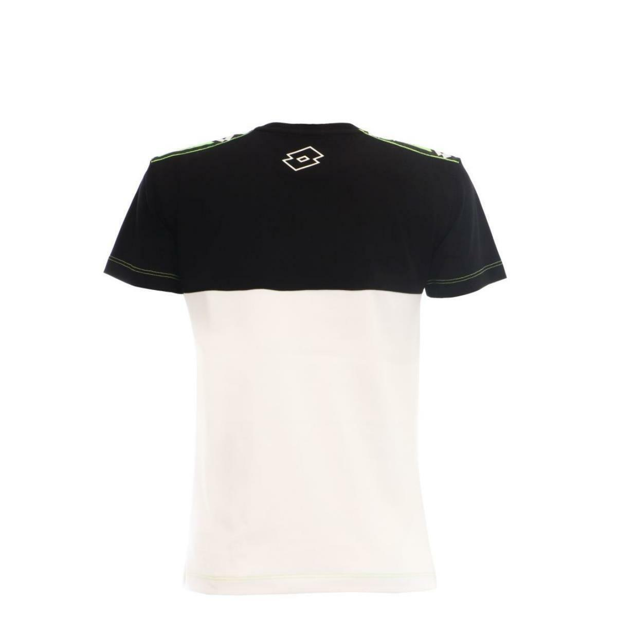 lotto lotto t-shirt bambino nero bianco ltss36