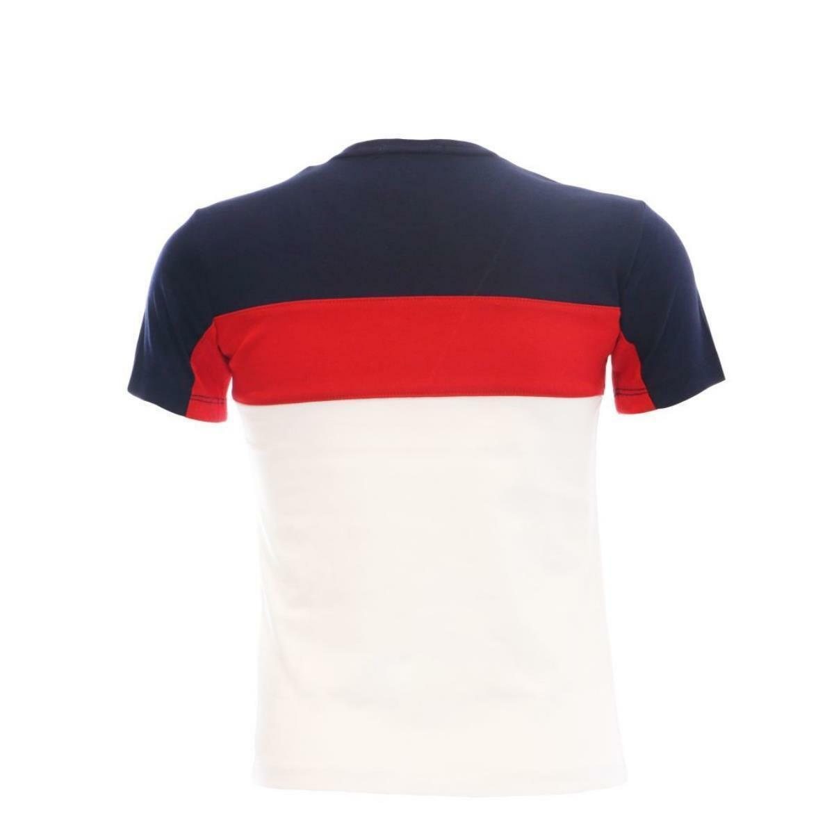 lotto lotto t-shirt bambino bianco blu rosso ltbss10