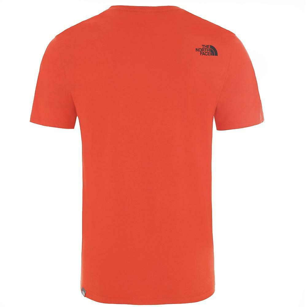 the north face the north face t-shirt uomo rosso nero nf0a2tx3