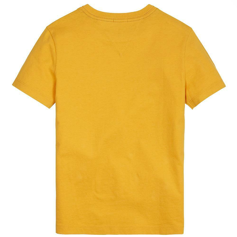 tommy hilfiger tommy hilfiger t-shirt bambino ocra kb0kb05437