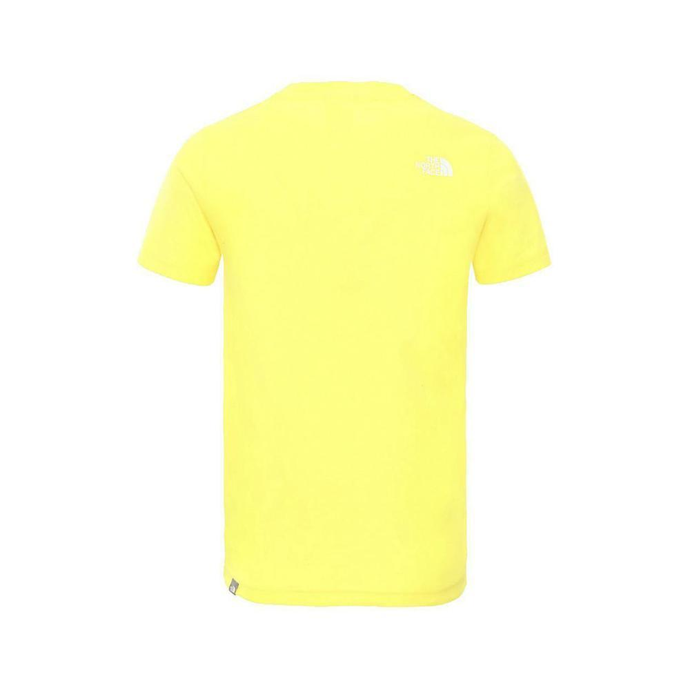 the north face the north face t-shirt bambino giallo nf0a2wan