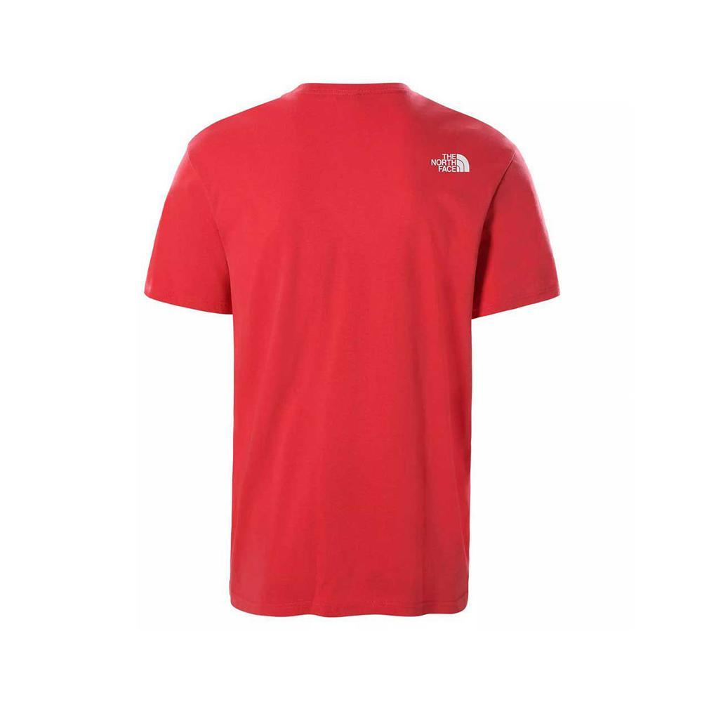 the north face the north face t-shirt uomo rosso nf0a2tx5