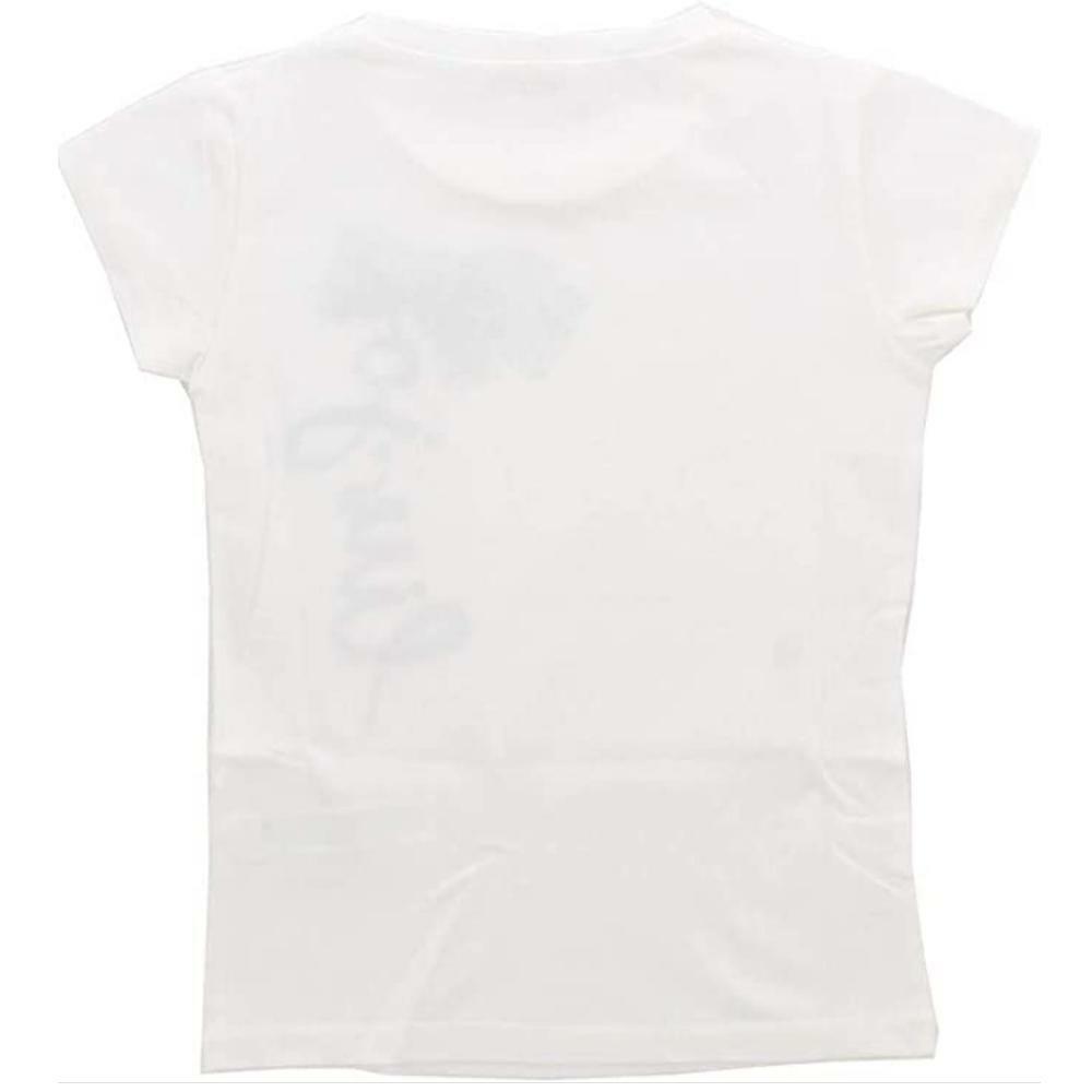 liu jo liu jo t-shirt bambina bianco blu ka0005j5003