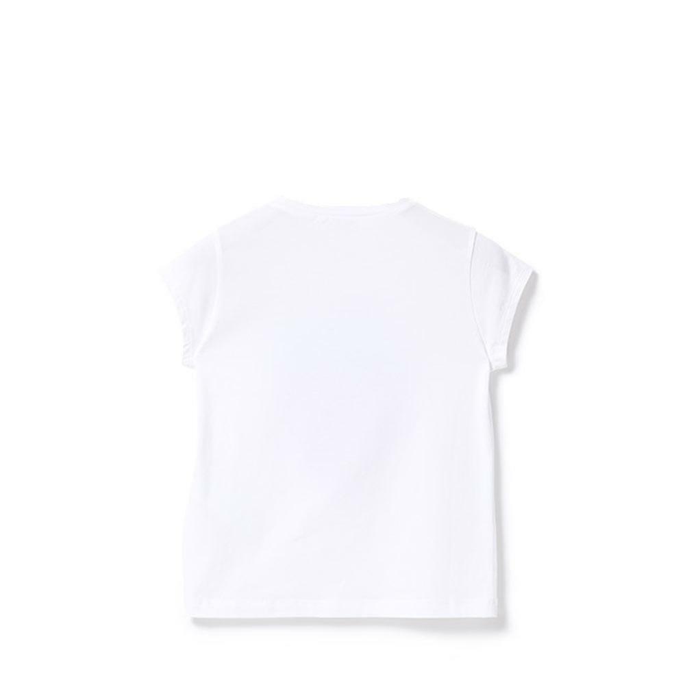 liu jo liu jo t-shirt ragazza bianco rosso ga0062j5003