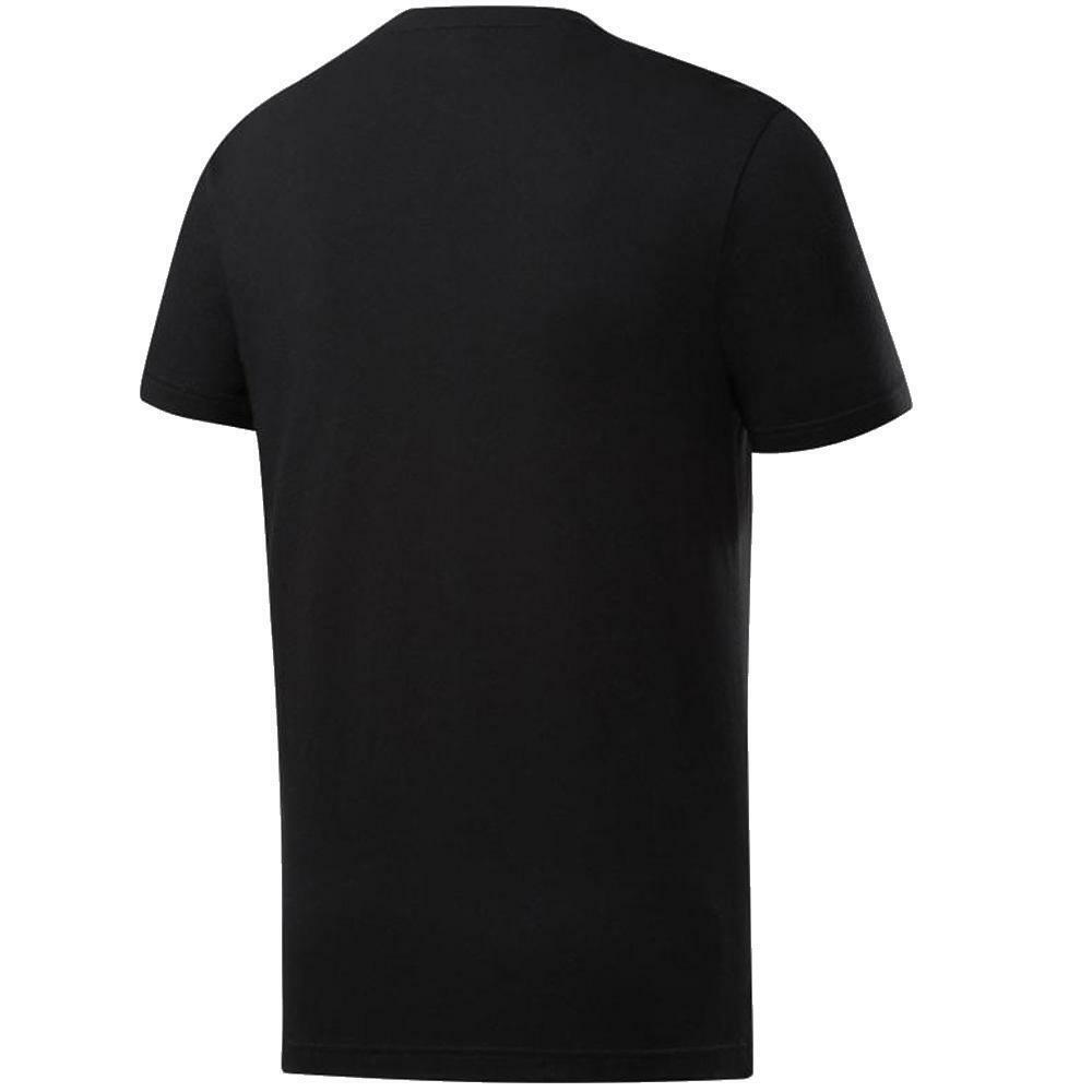 reebok reebok t-shirt uomo nero fp9164
