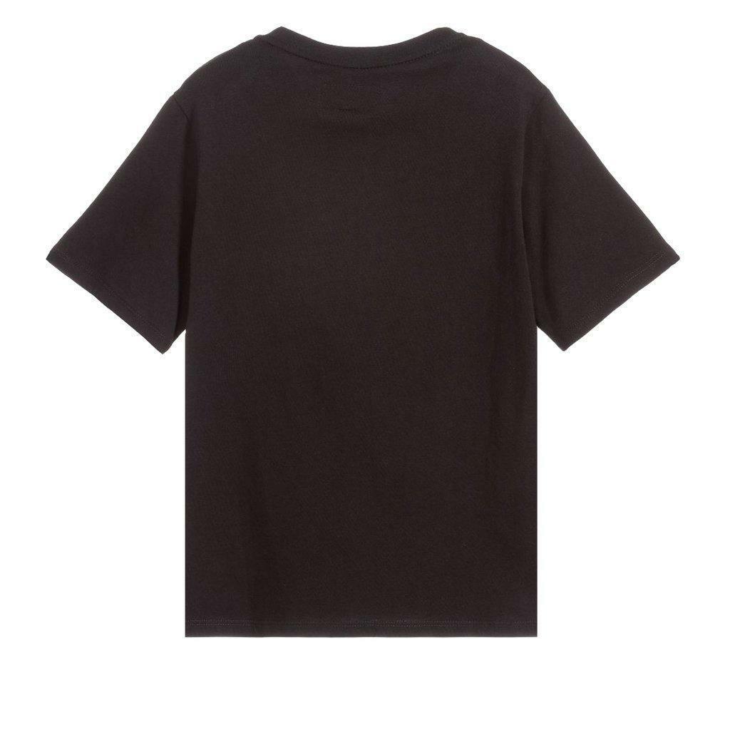 emporio emporio t-shirt bambino nero verde fluo 3h4td0-1j00z