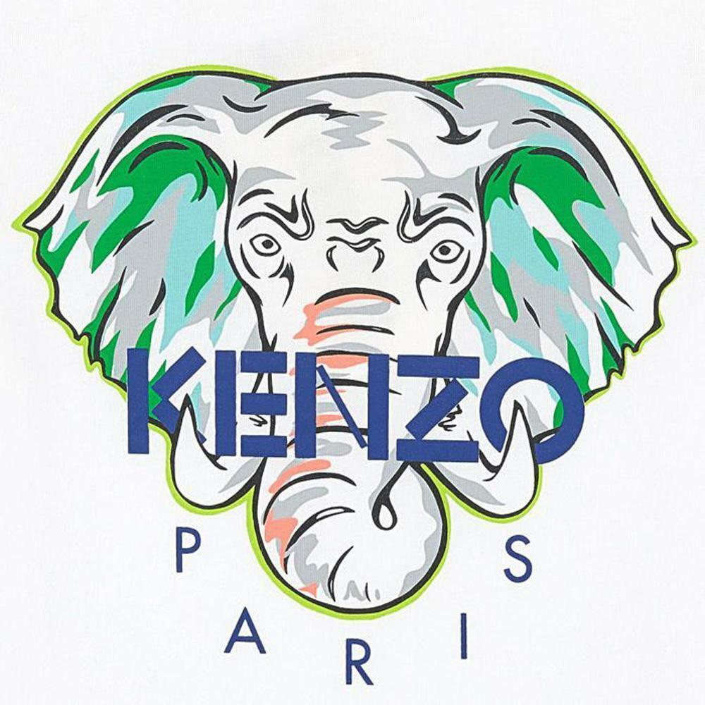 kenzo kenzo t-shirt bambino bianco kq10618