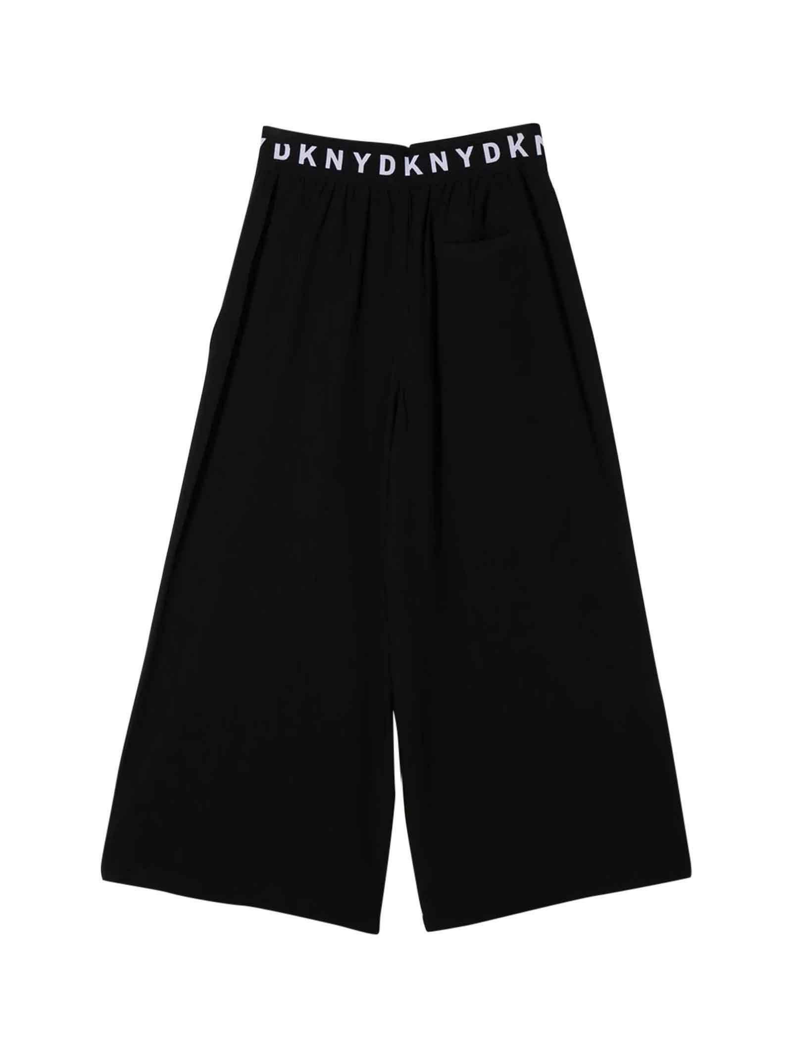 dkny dkny pantalone bambina nero d34978