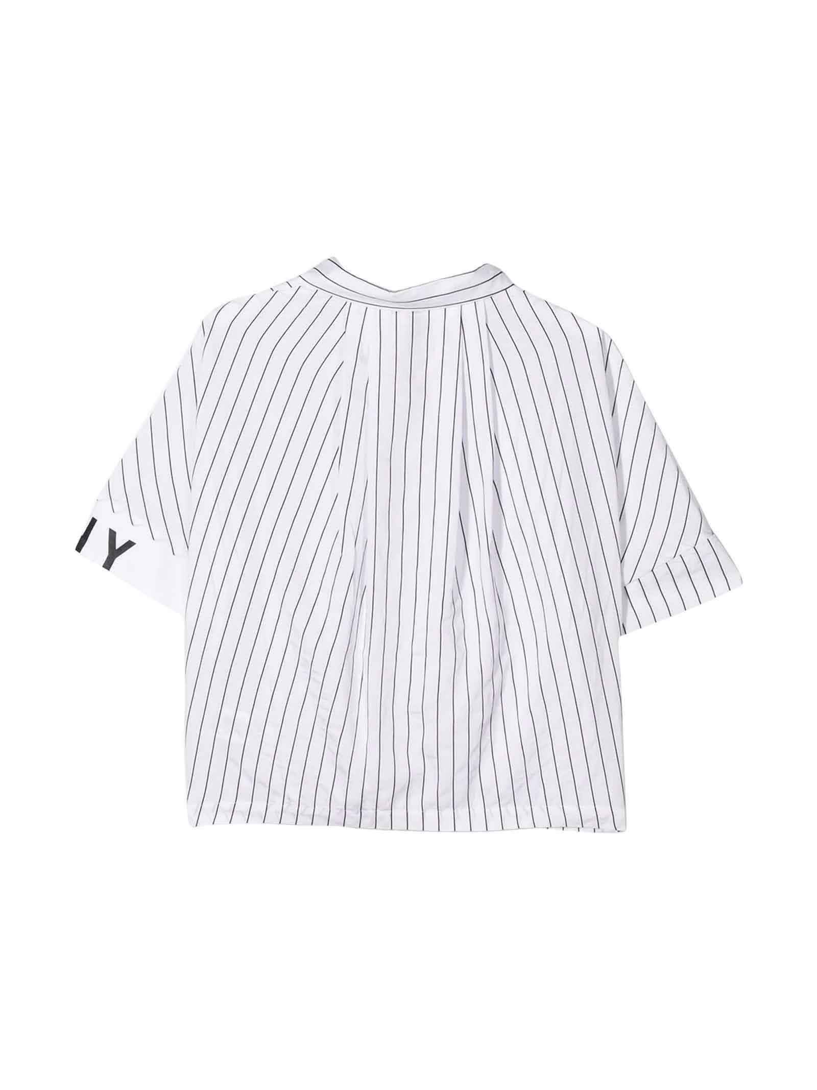 dkny dkny camicia bambina bianco d35q63