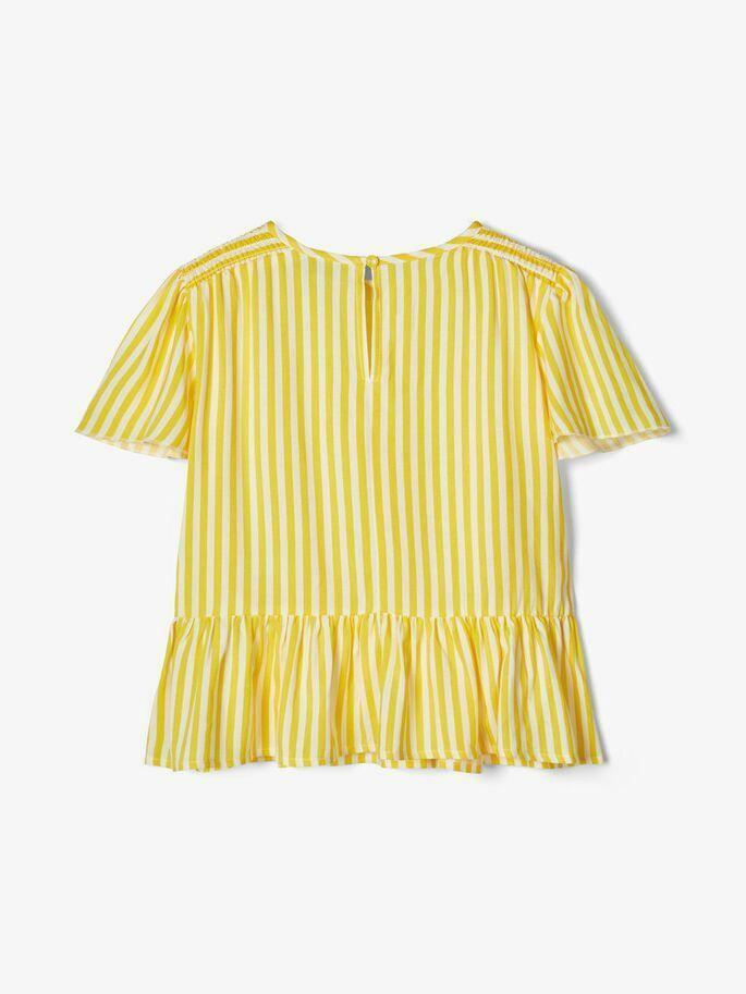 name.it name.it camicia bambina bianco giallo 13175635