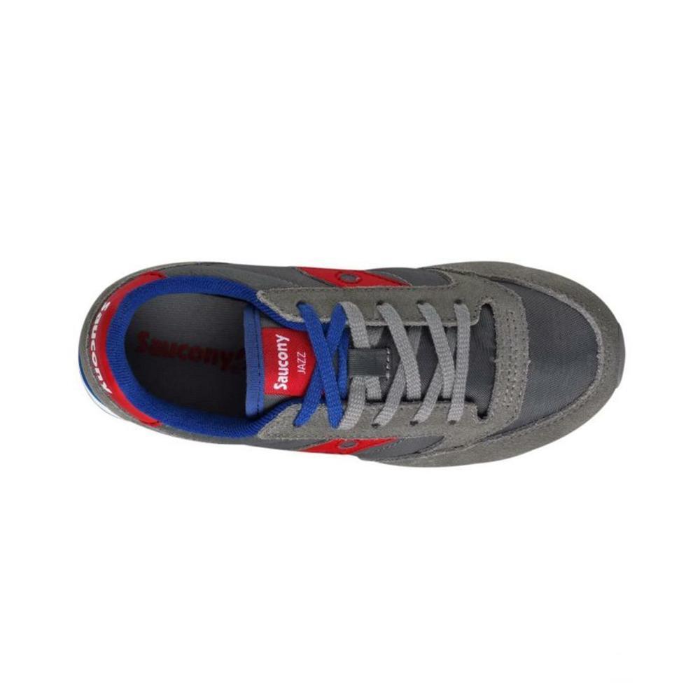 saucony saucony junior scarpe bambino grigio rosso sk259608