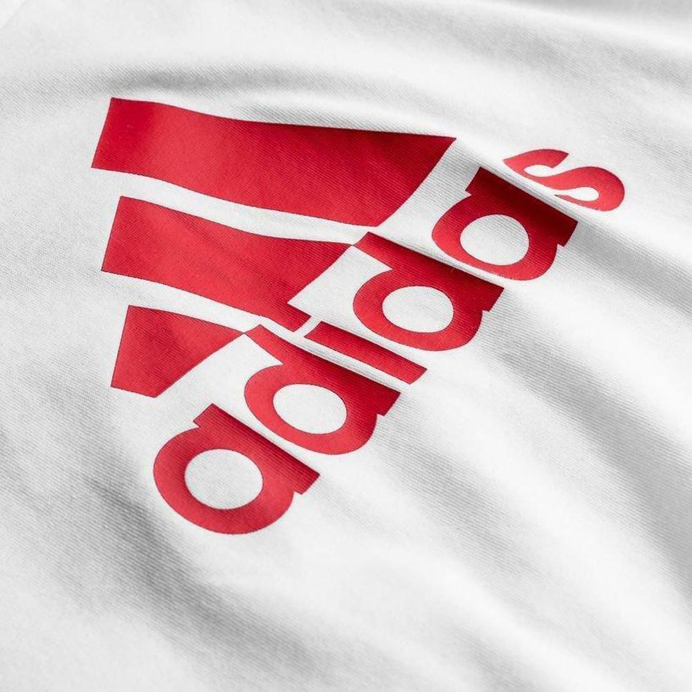 adidas adidas t-shirt bambino bianco logo rosso fq7722