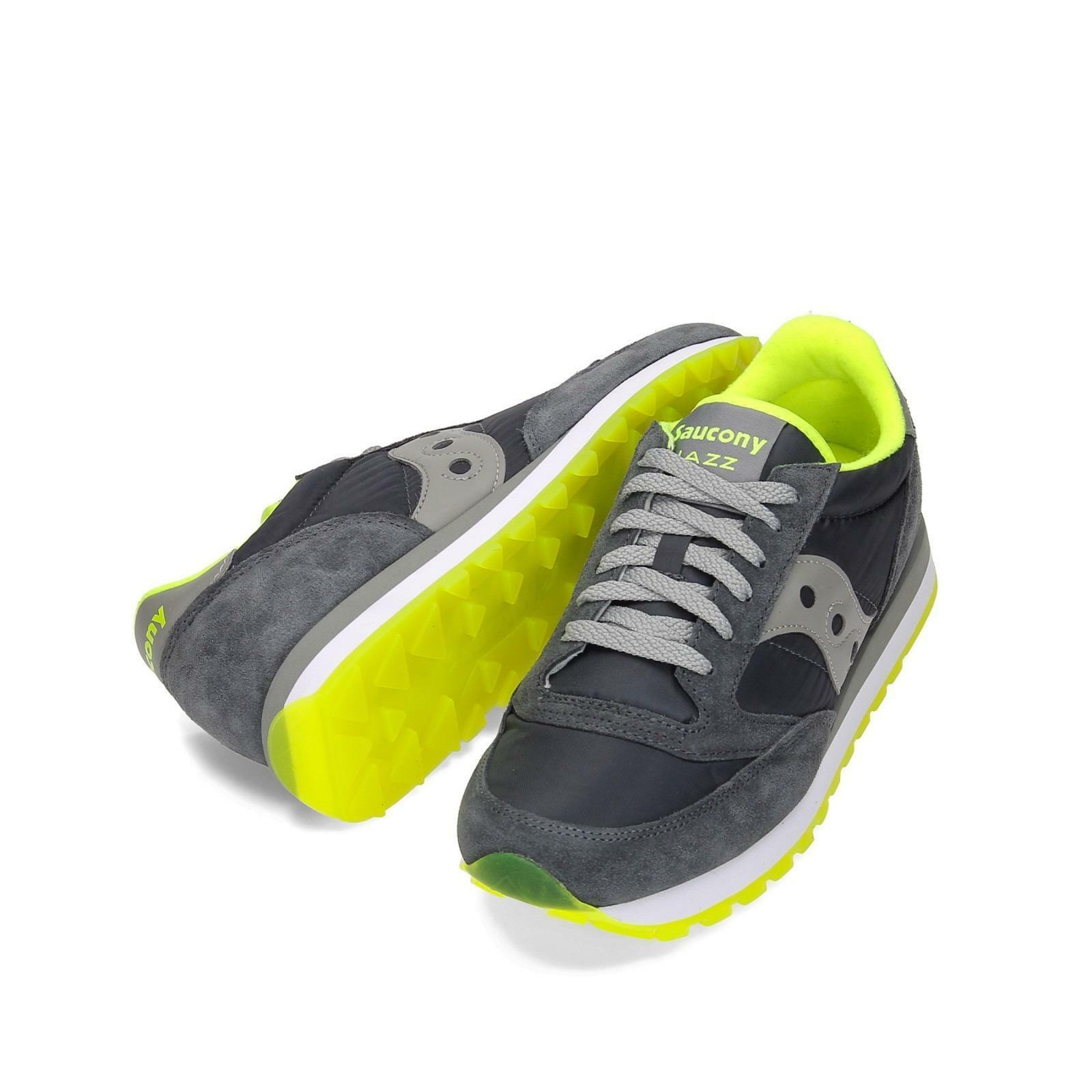 saucony saucony scarpa jazz original uomo grigio giallo fluo 2044-257