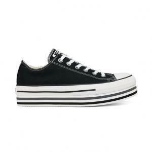 scarpe converse platform nere