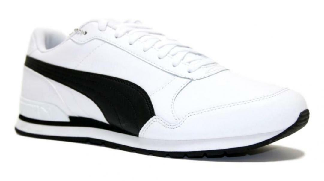 puma puma st runner v2 full l uomo 365277 013 bianco sneakers sport