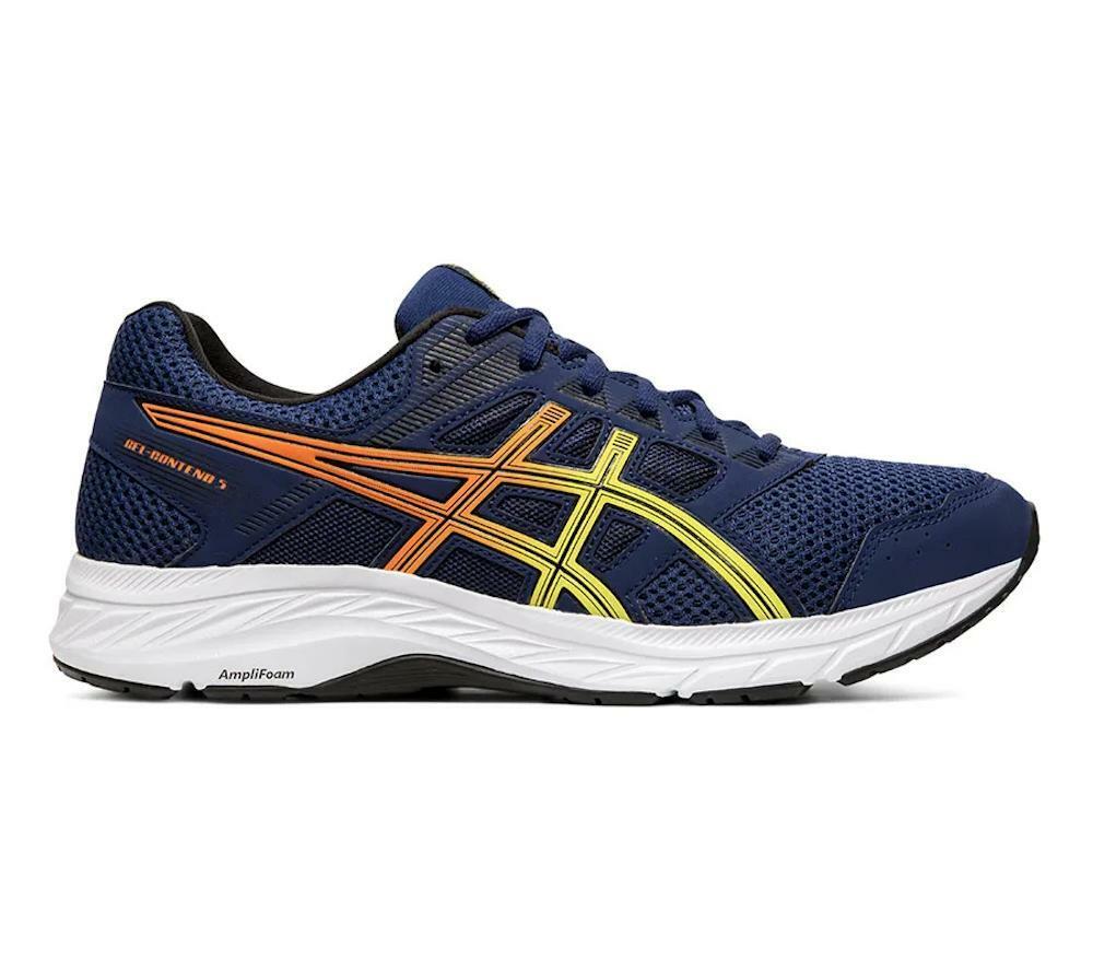 asics asics gel contend 5 uomo scarpa running 1011a256 blu