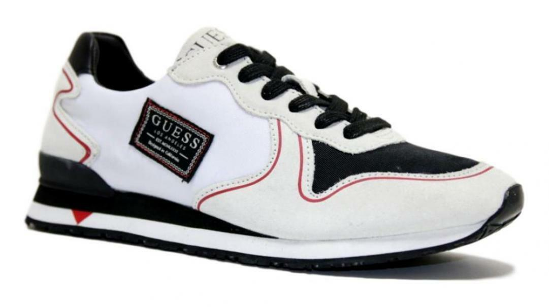 guess guess sneaker sportiva uomo  fm7nglsue12 bianco