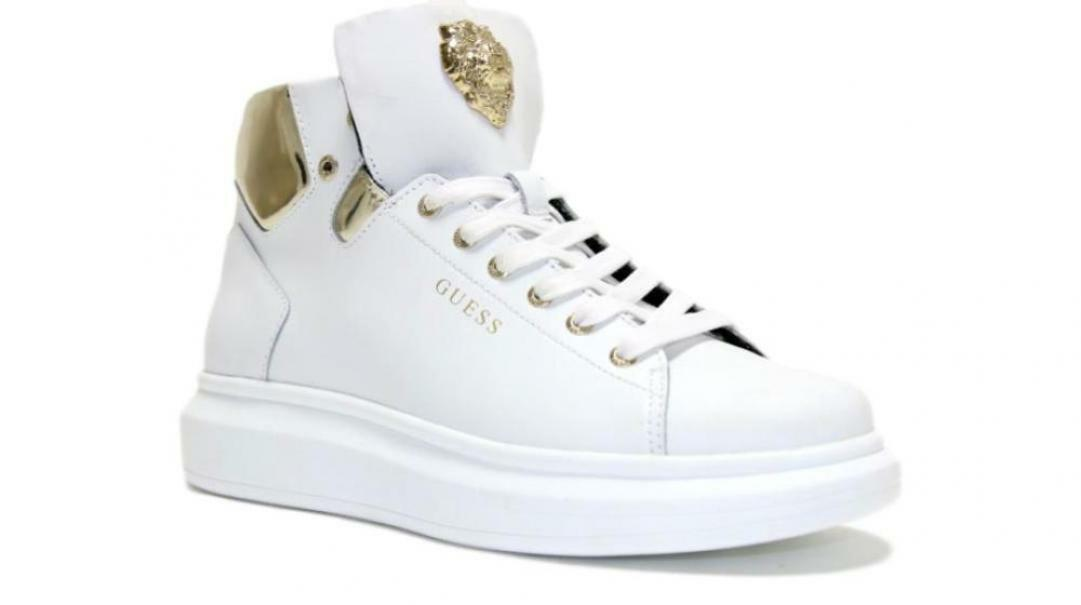 guess sneakers alta uomo fm70phlea12 bianca