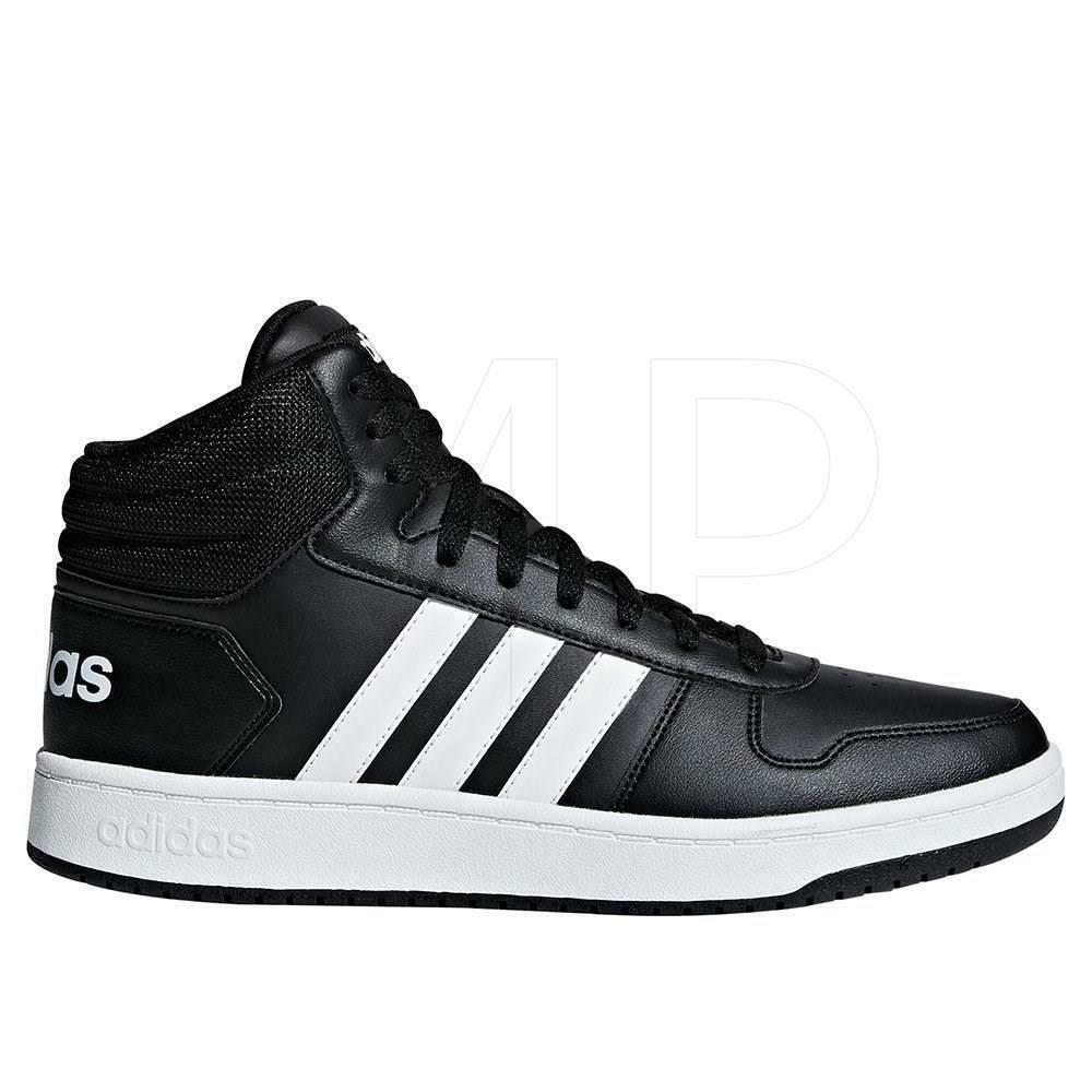 Adidas hoops 2.0 mid uomo sneaker alta bb7207 nero