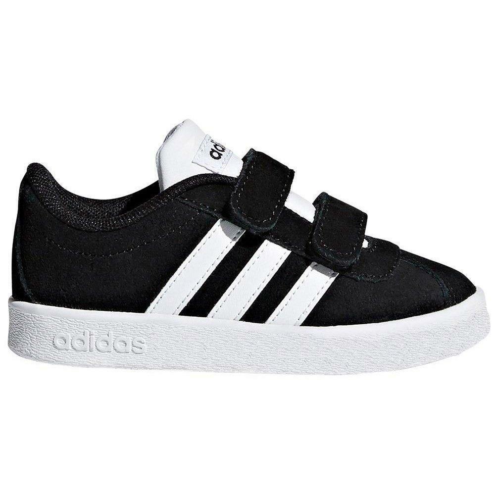 adidas adidas vl court 2.0 cmf i bambino strappo sportivo db1833 nero