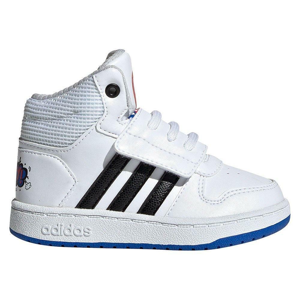 adidas adidas hoops mid 2.0 i  bambino sneaker alta ee8551 bianco