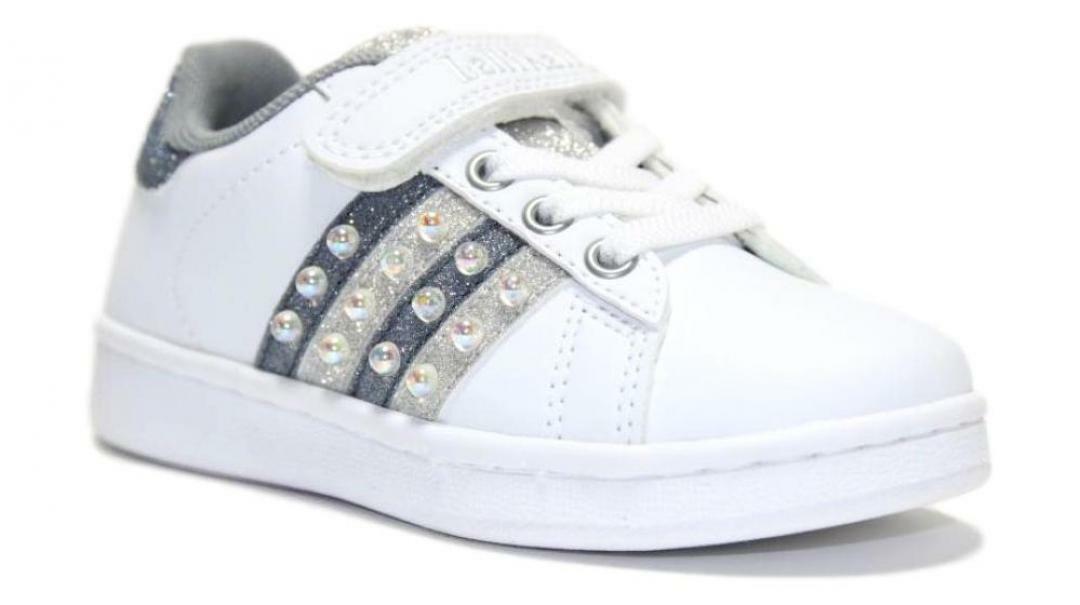 lelli kelly lelli kelly sneakers bassa bambina lk6810 argento