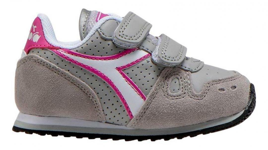 diadora diadora sneaker simple run up td bambina 175082 grigio