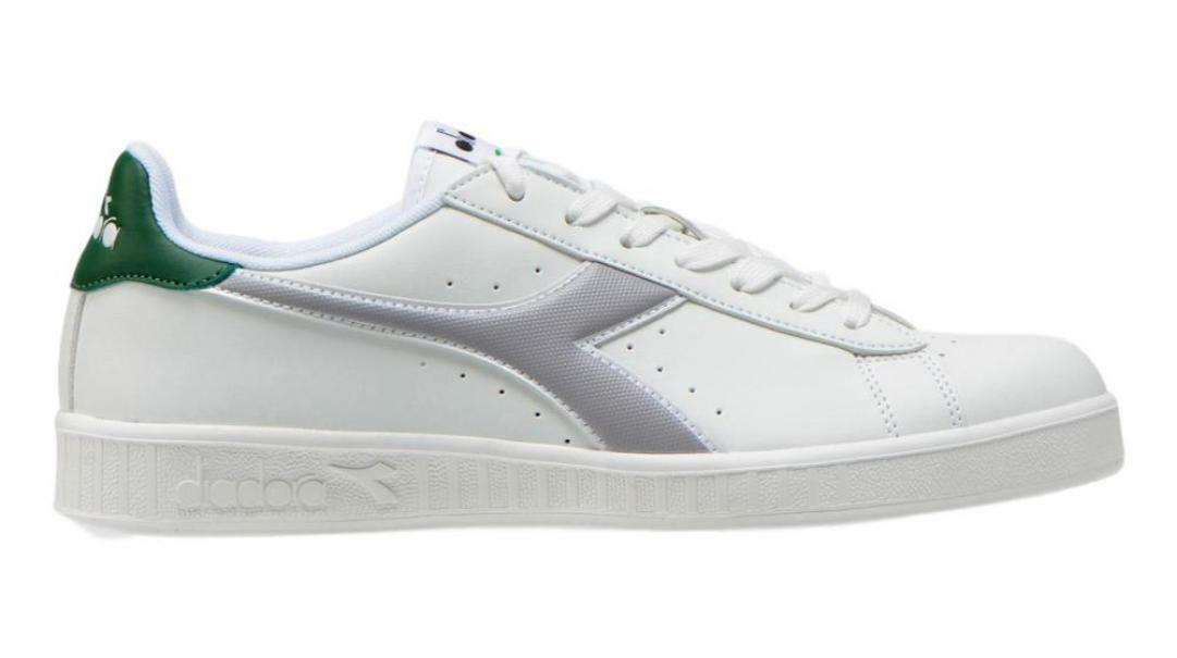 diadora diadora game p uomo 160281 bianco/grigio