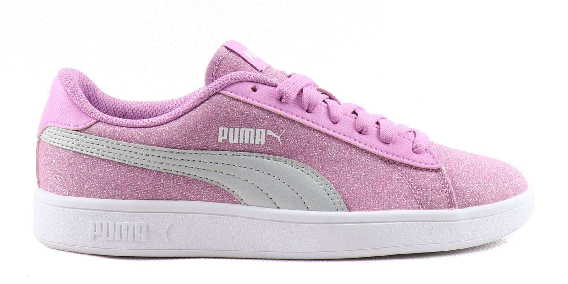 Puma smash v2 glitz glam jr bambina 367377 002 rosa