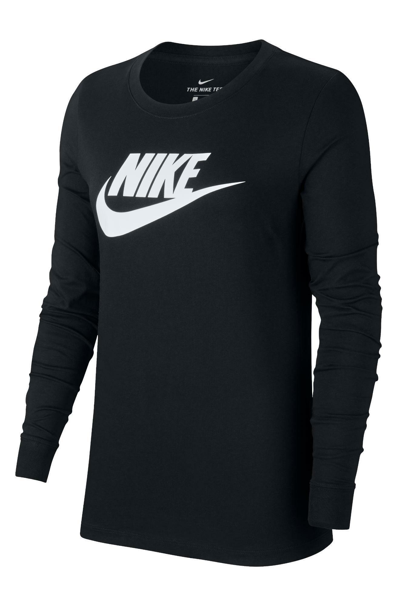 nike nike t-shirt donna bv6171 010 nero