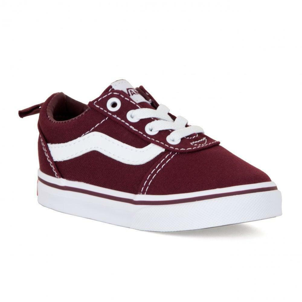 vans bordeaux stivaletto