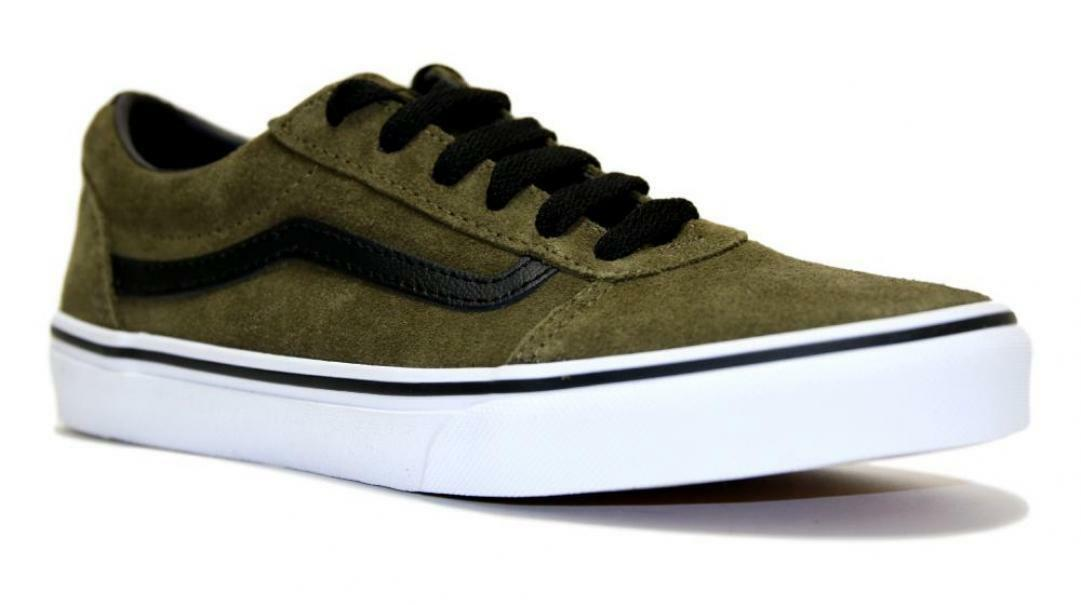 vans vans sneakers bassa bambino vn0a38j9xq41 verde militare
