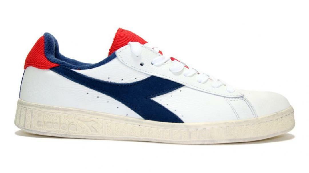 DIADORA GAME L Low Used Sneakers Bianco Blu Rosso 174764