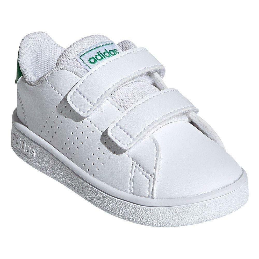 adidas adidas advantage i bambini unisex ef0301 bianco verde