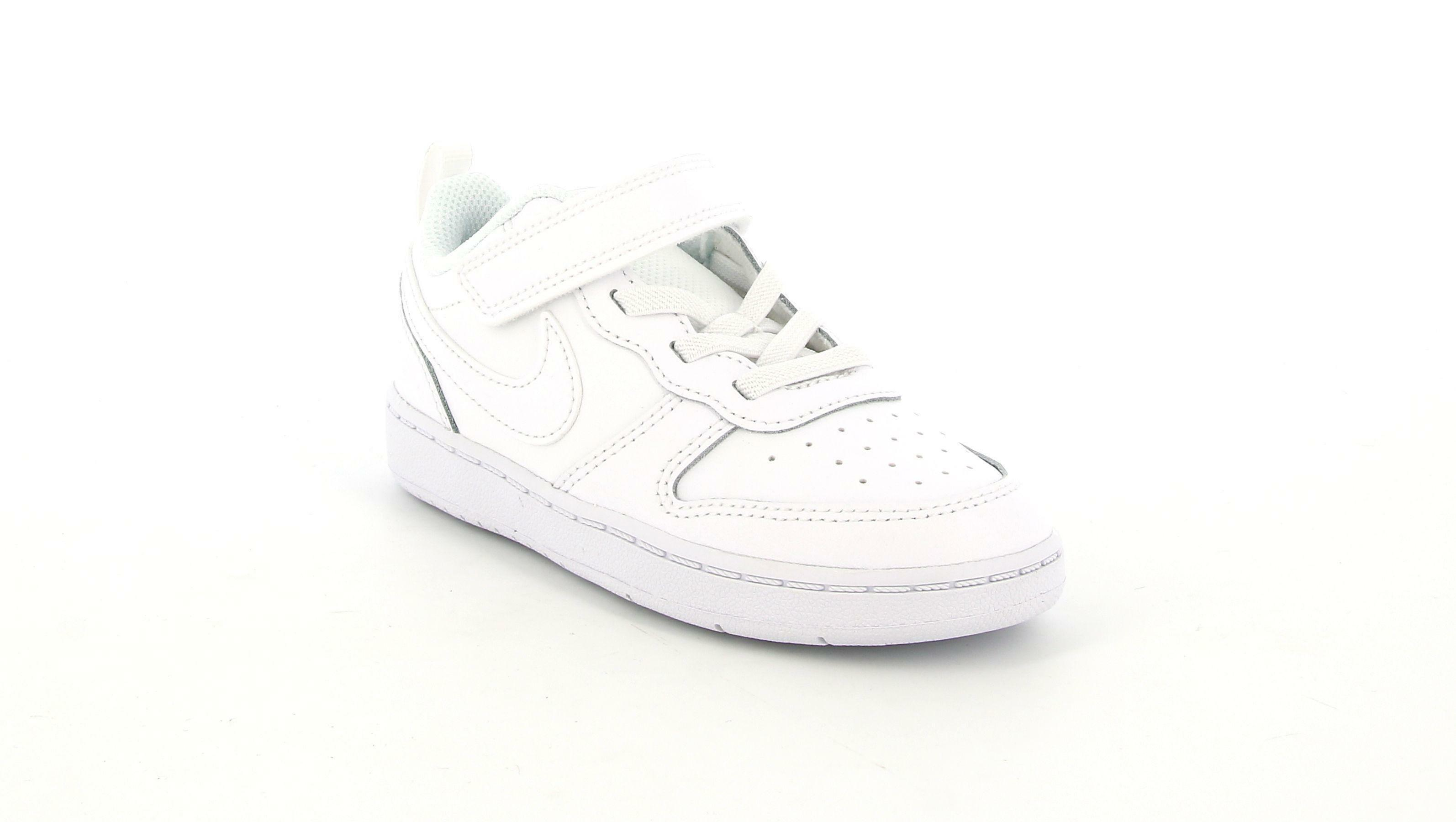 nike nike court borough low 2 (td) sneaker babinom bq5453 001 bianco