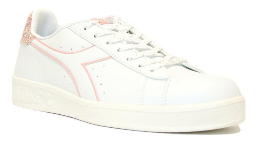 diadora diadora game p wn donna 175063 bianco/rosa