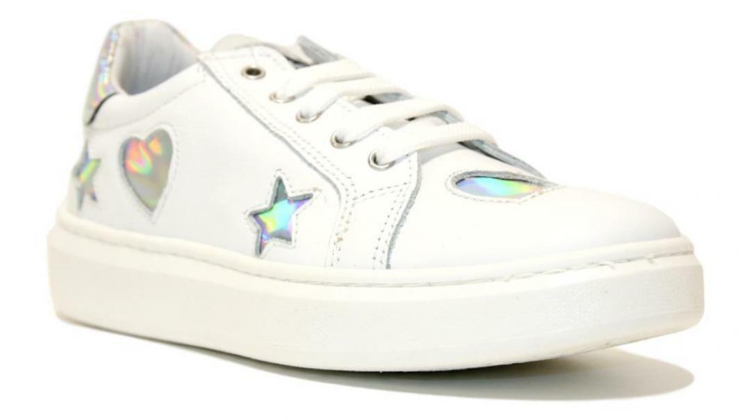 melania sneakers  melania me6280f0s.a: bianco/argento