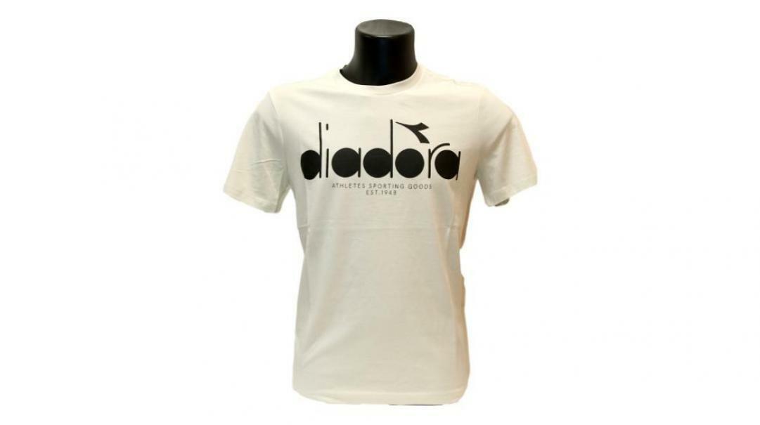 diadora diadora t-shirt uomo 176633 grigio