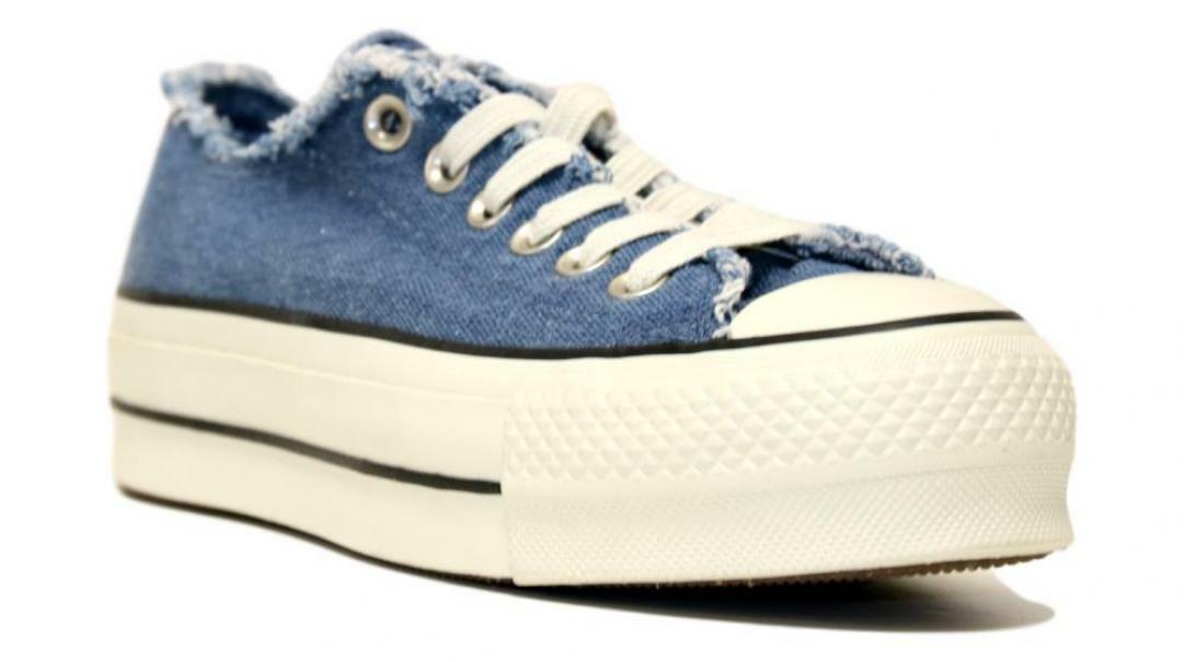 converse converse ctas clean lift ox donna blu scarpe sportive