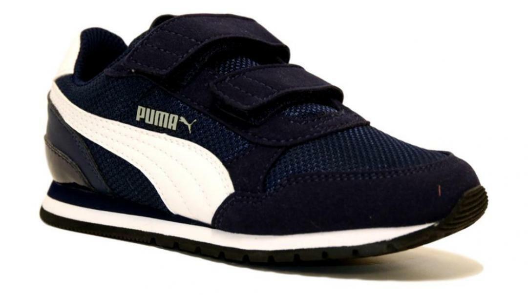 puma puma st runner v2 mesh v ps bambino 367136 001 blu