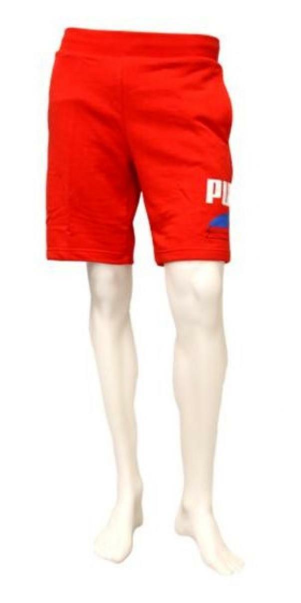 puma puma shorts 581369 011 rosso pantaloncini uomo