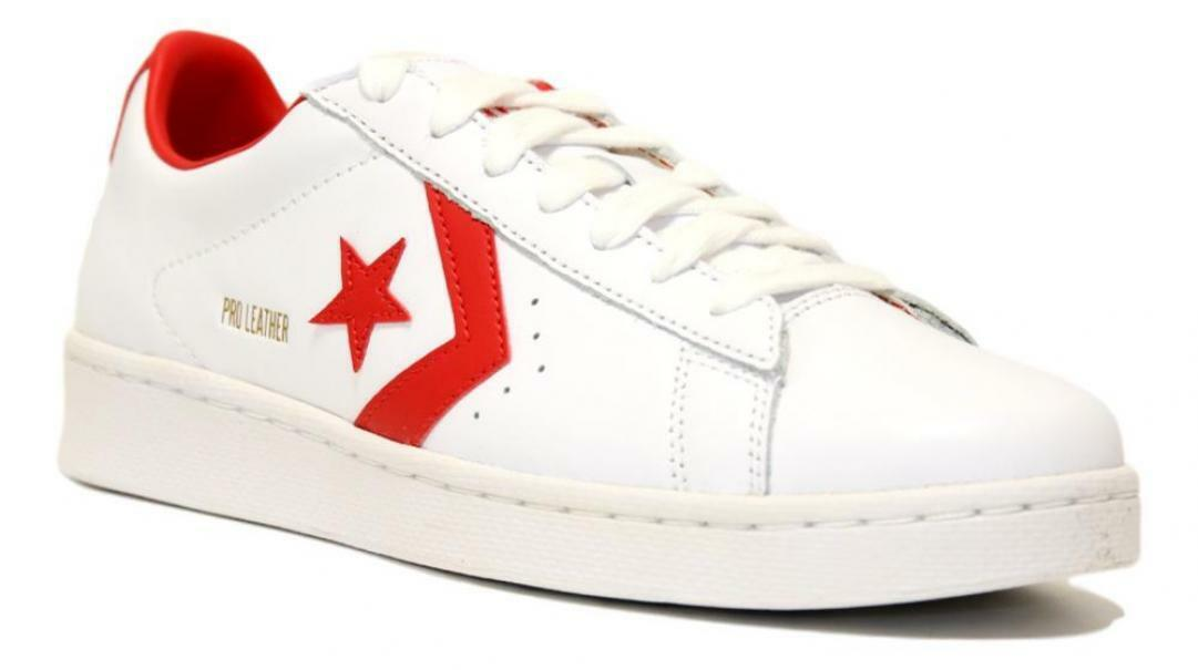 converse converse pro leather og ox white/red/white  167970c bianco