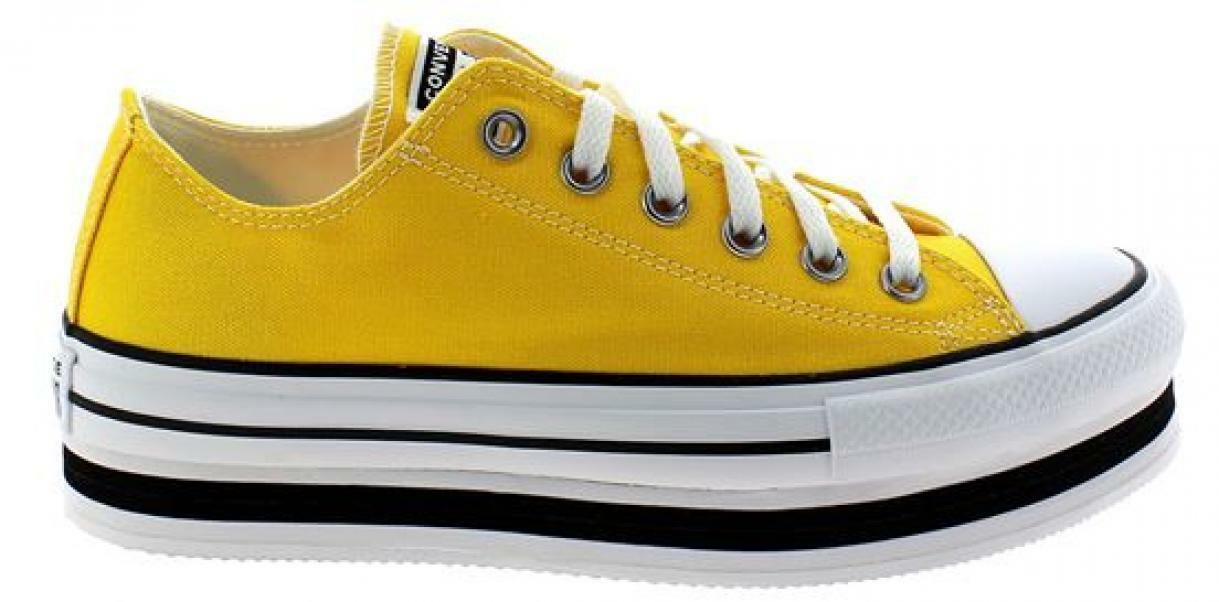 converse converse layer bottom ox amarillo/white/black 567998c giallo