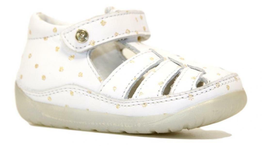 falcotto falcotto sandalo bambina  bianco platino 1500726 14 1n03 bianco