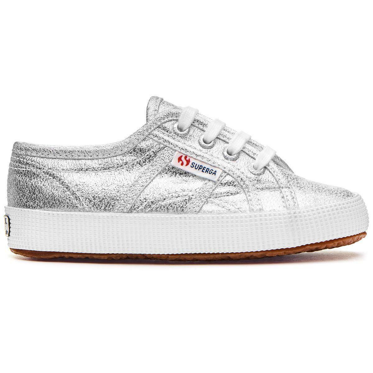 superga superga sneakers bambina 2750 lameb argento