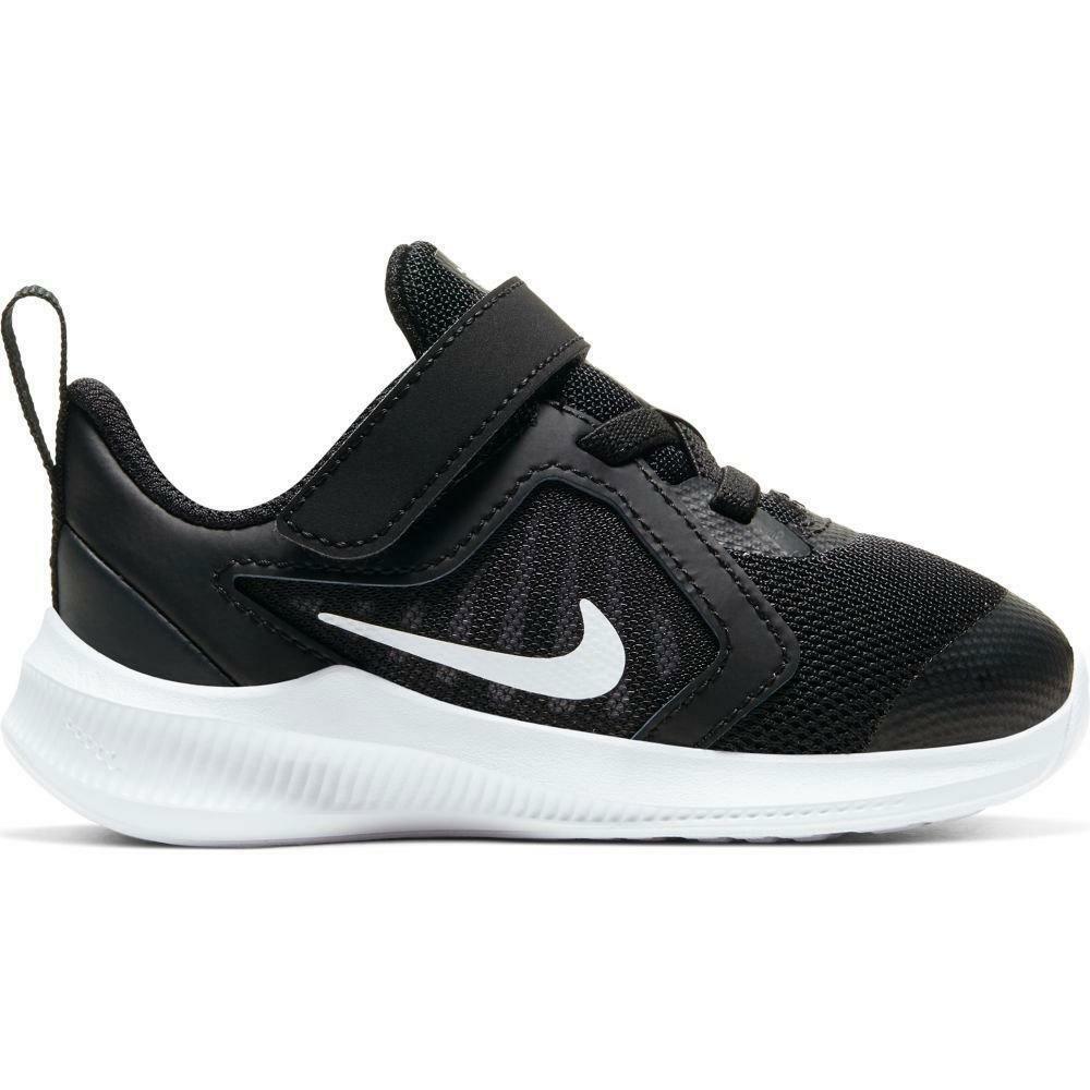 nike nike downshifter 10 (tdv) cj2068 004 nero scarpe da ginnastica leggere unisex bambino